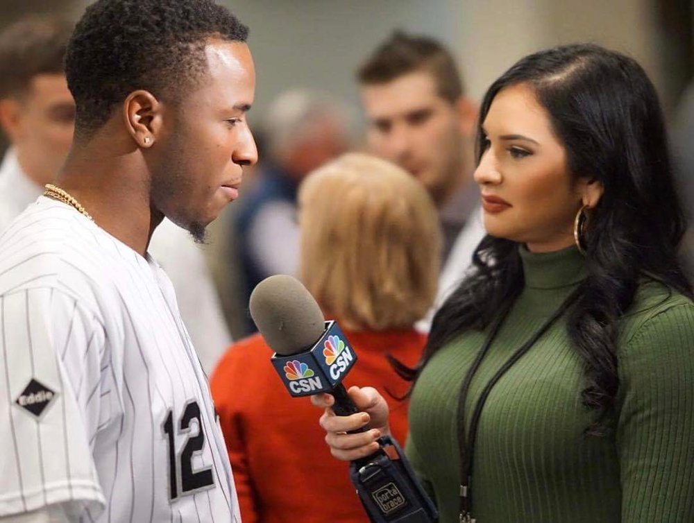 Siera Santos interviewing Tim Anderson at Sox Fest 2017