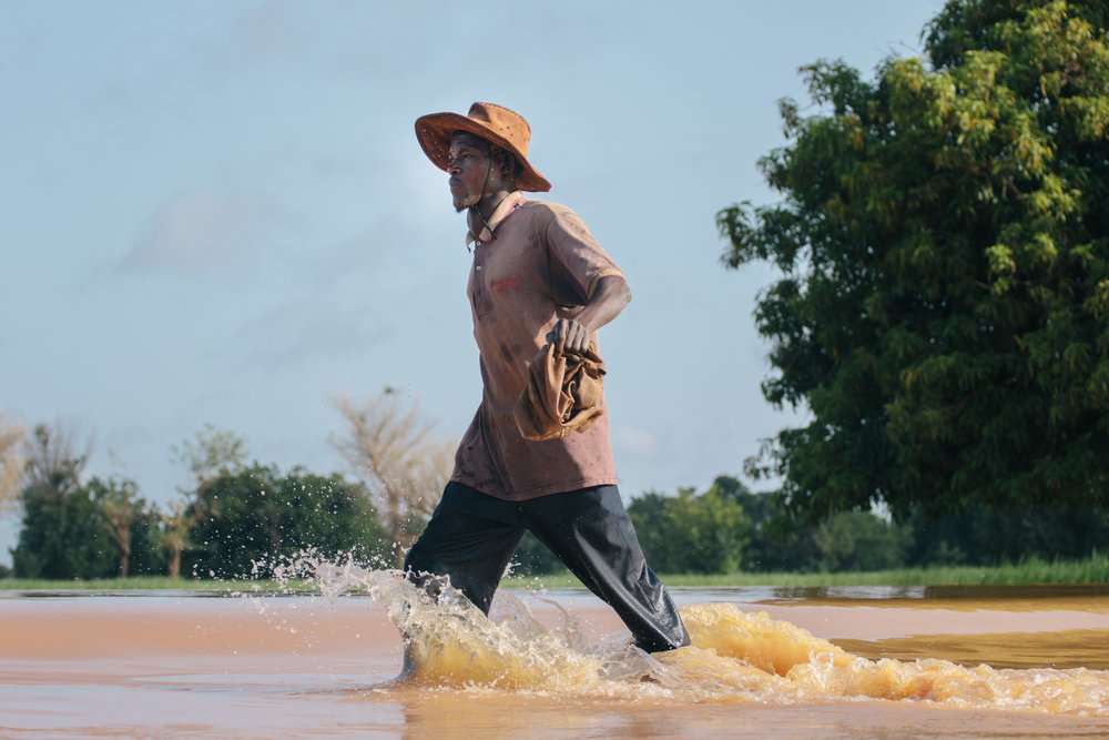 Heavy rains after long periods of drought result in flash floods. Burkina Faso, 2012.