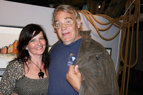 Hilde og Torgeir Schjølberg som besøkte utstillingen.