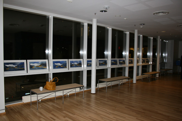 All the 40 paintings from Nybyen at Svalbard.