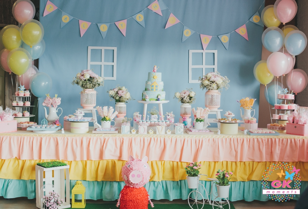 Peppa pig themed birthday party by GK Moments