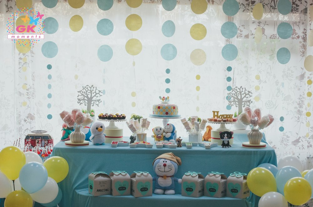 Doraemom themed birthday party by GK Moments