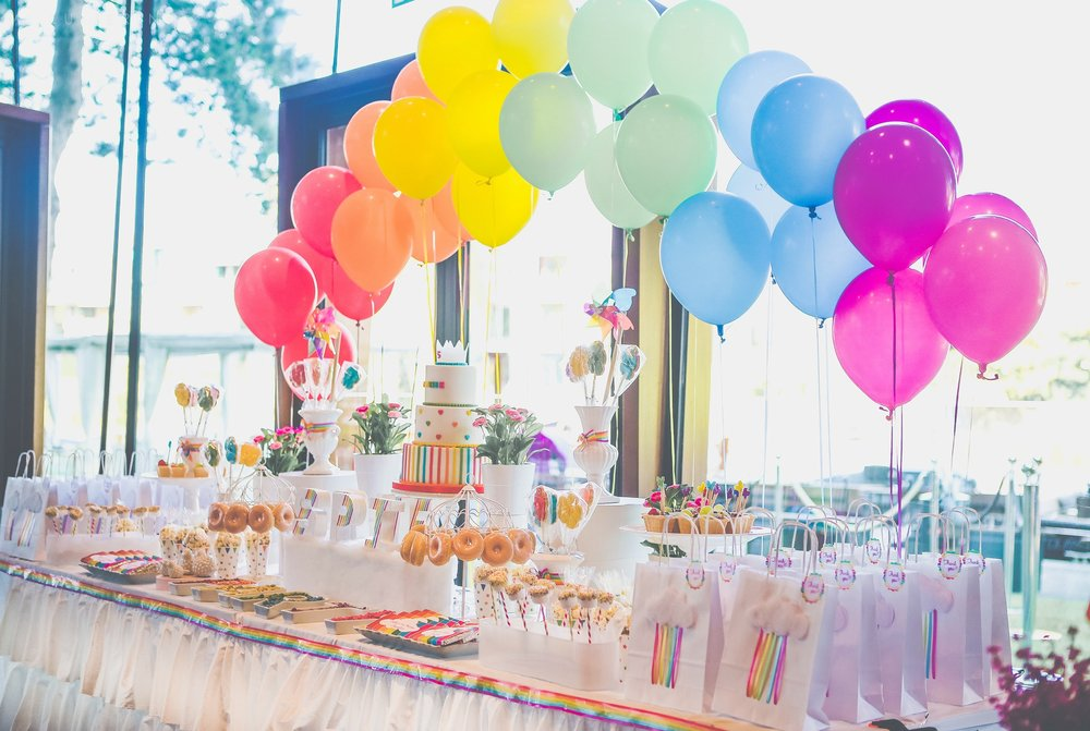 Rainbow themed birthday party by GK Moments