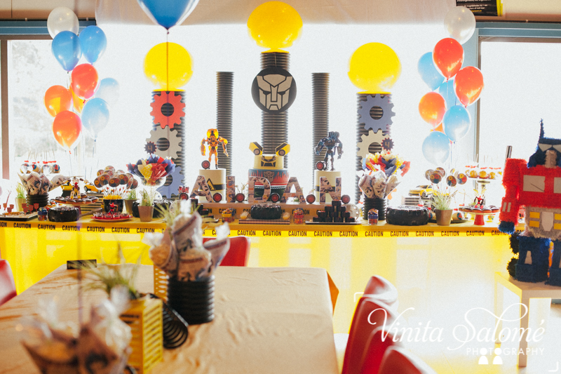 Transform themed birthday party by GK Moments