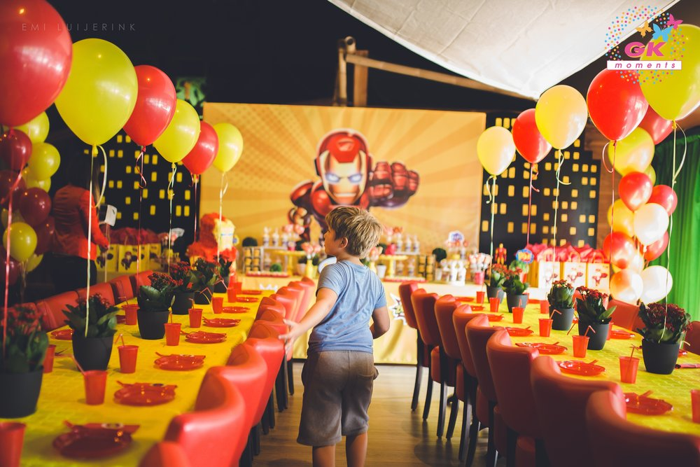 GK Moments Iron Man themed birthday party Kids party planner