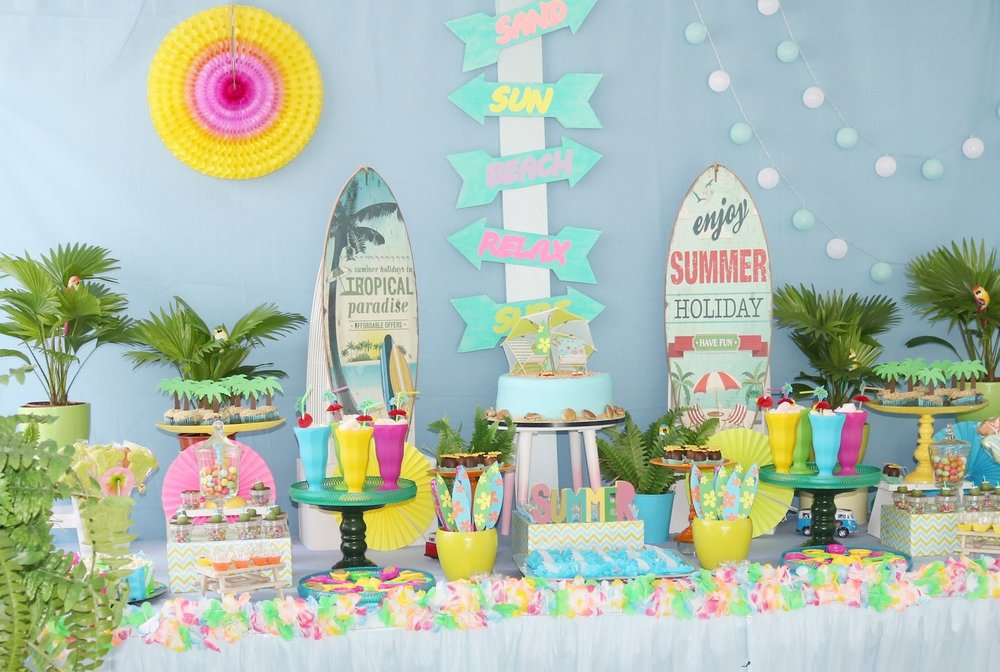 Surf's up and beach party by GK Moments