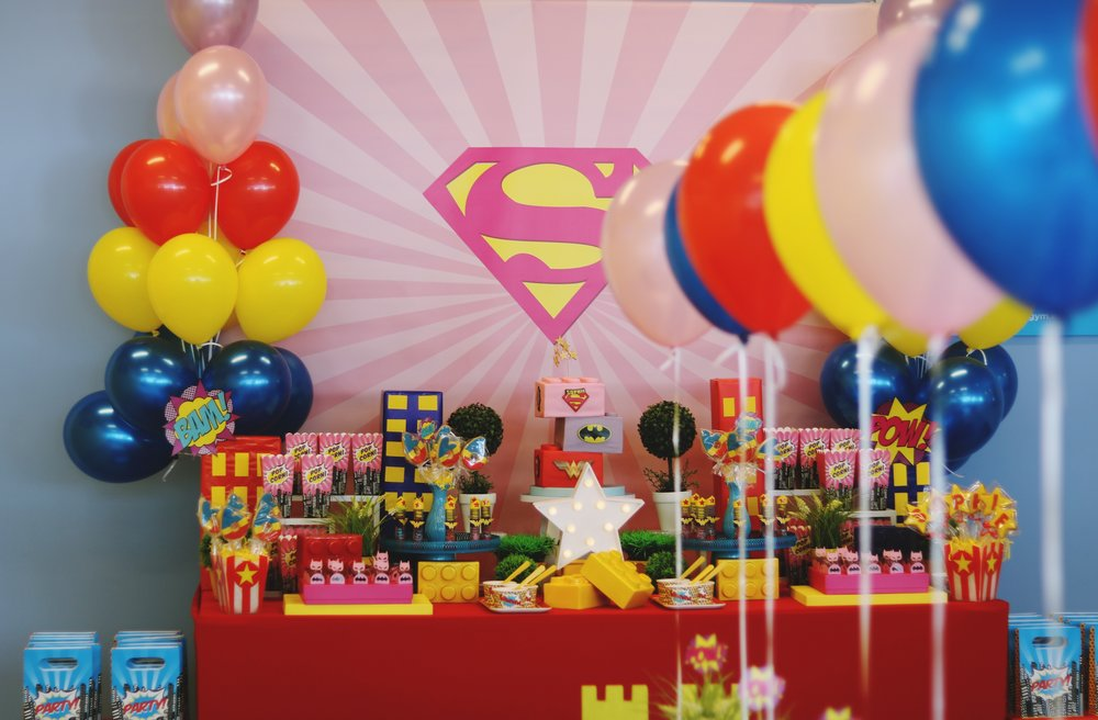 Lego super hero girls themed birthday party by GK Moments