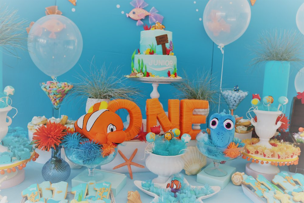 Nemo Themed birthday party by GK Moments