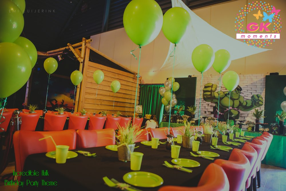 The Hulk themed birthday party by GK Moments