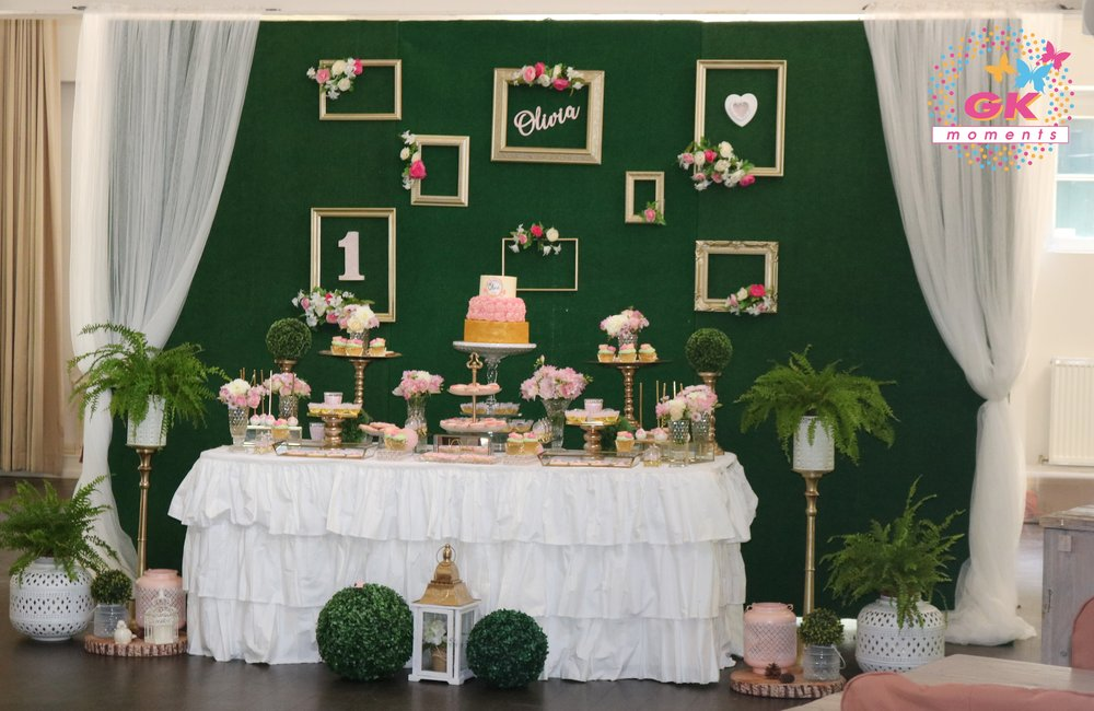 Floral themed birthday party by GK Moments
