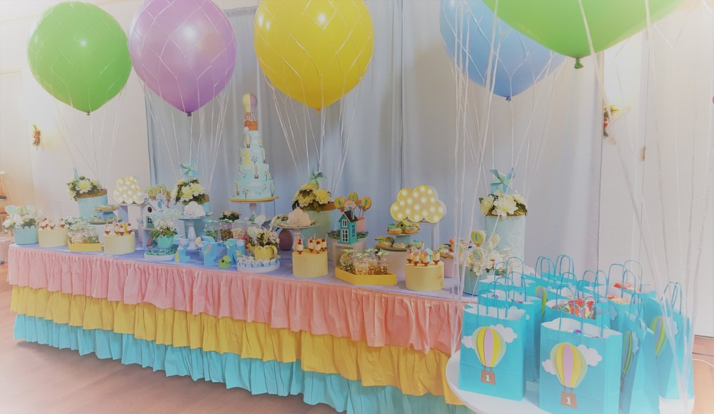 Hot air balloon themed birthday party by GK Moments