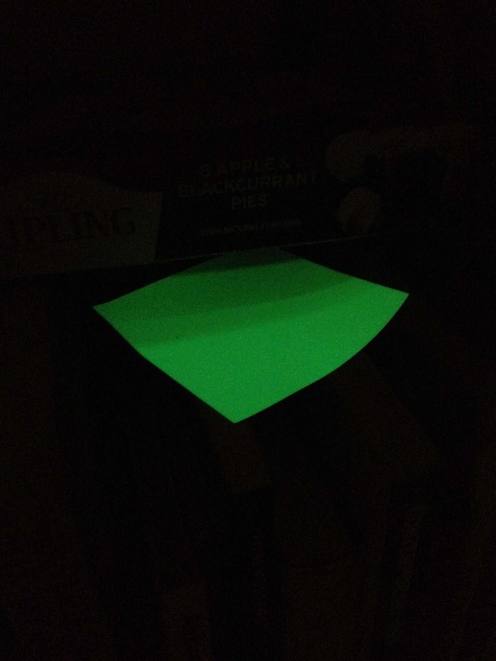 Phosphorescence paper