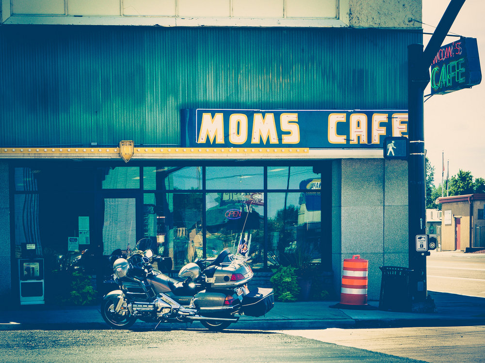 Mom's & motorcyle