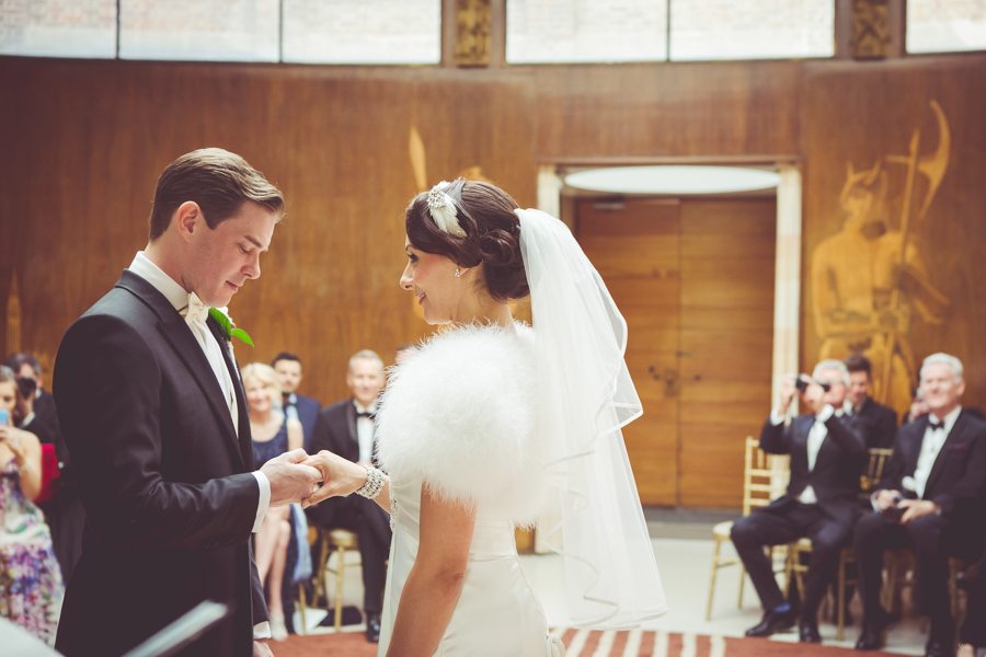 Exchange of rings at Eltham Palace