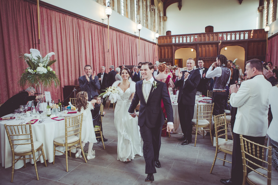 Wedding reception in the Medieval Hall at Eltham Palace