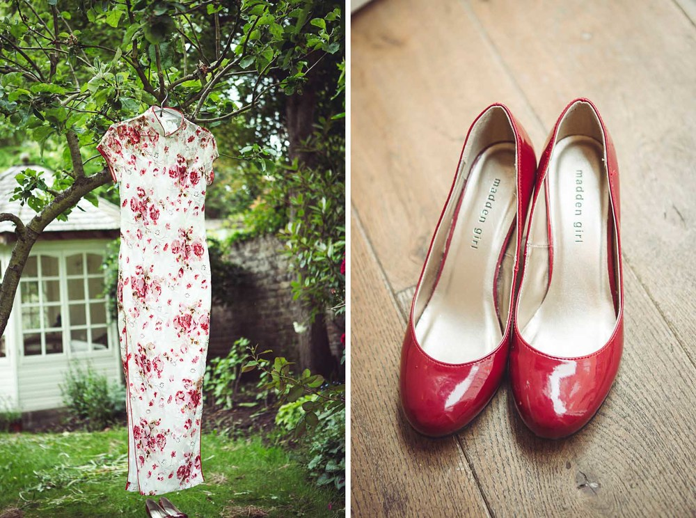 Wedding shoes at Eltham Palace