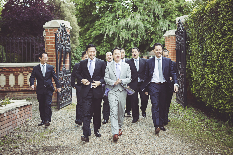 groom and Ushers arrive at Eltham Palace