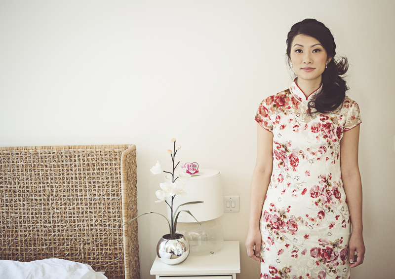 Portrait of bride at Eltham Palace wedding