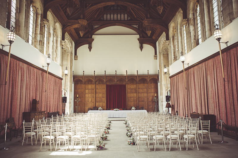 wedding in the Great Hall Eltham Palace