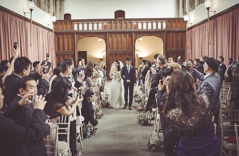 Bride enters the Great Hall at Eltham Palace