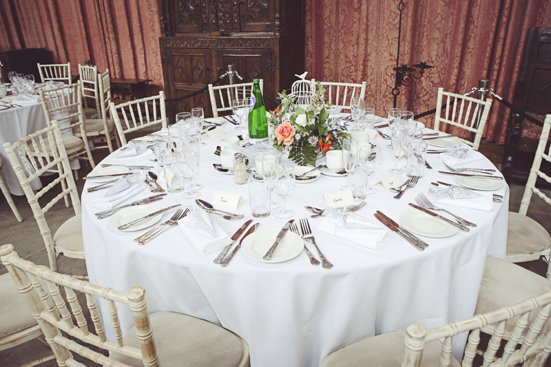 Table dispaly in the Great Hall Eltham Palace