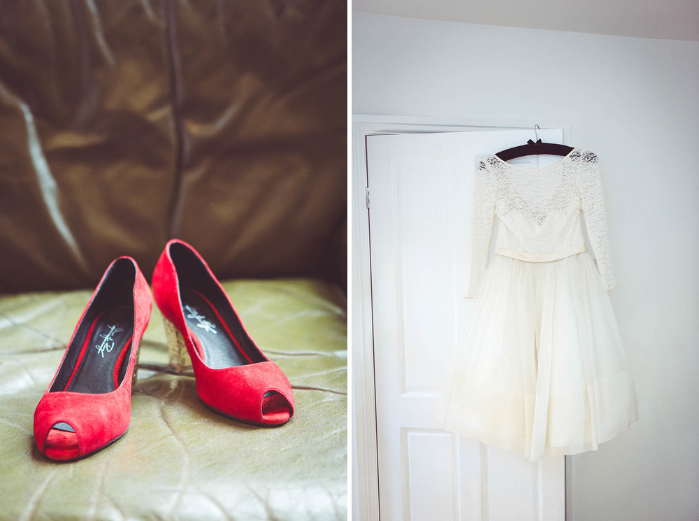Fur Coat no Knickers vintage wedding dress