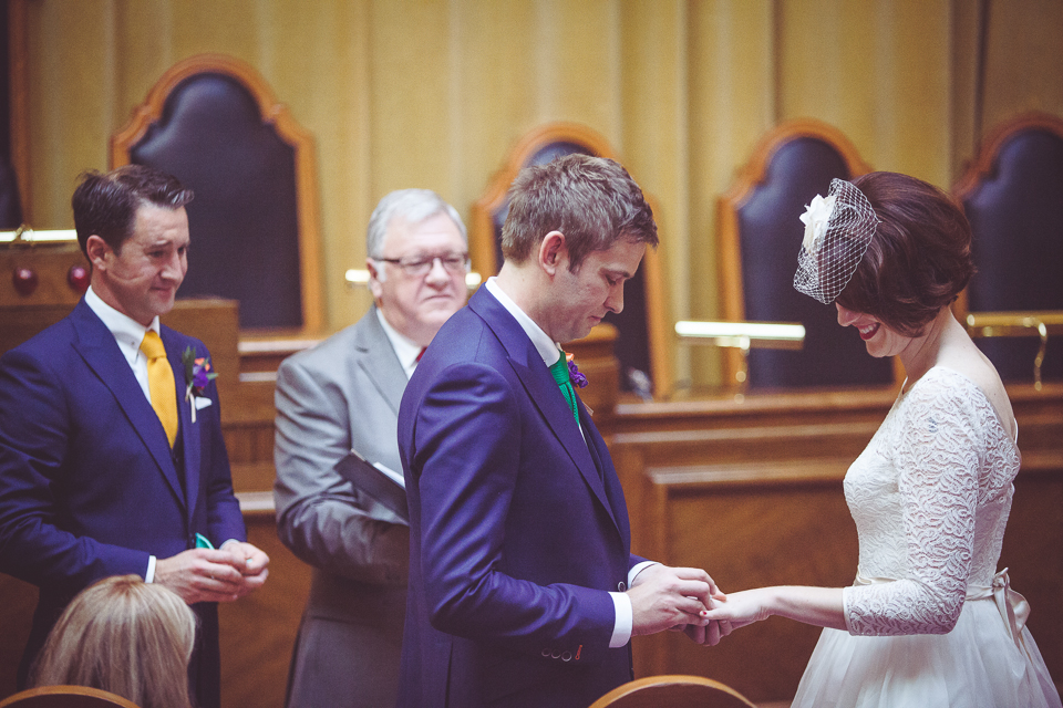 Dani and Mark exchange vows