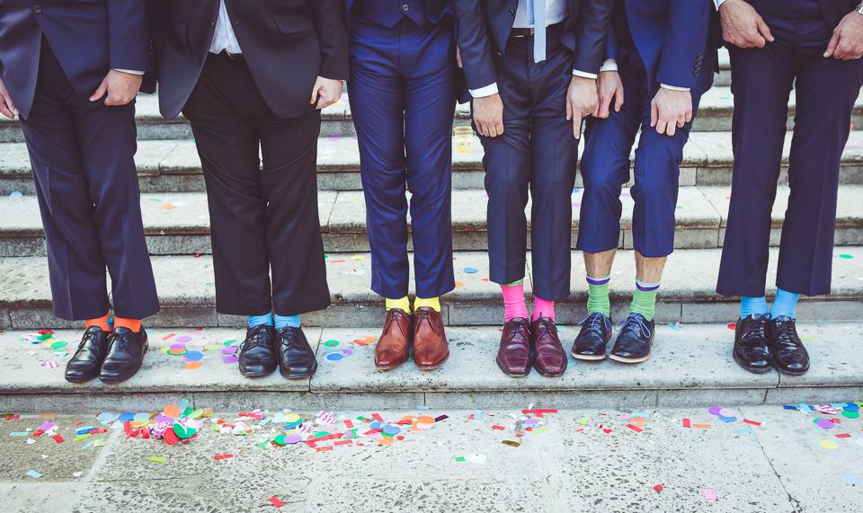 Groomsmen coloured socks