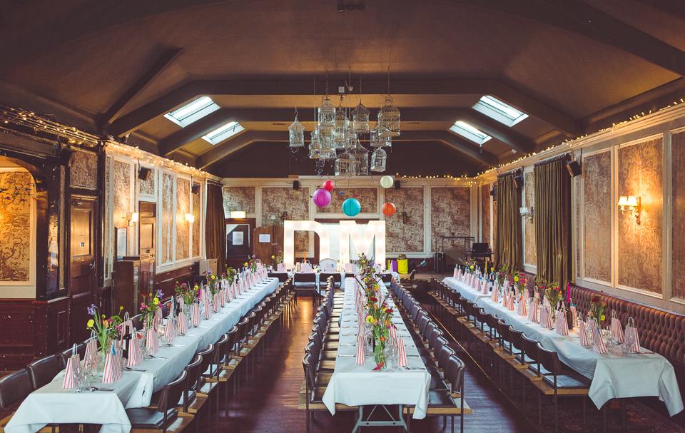 Amazing reception interior at Balham Bowls Club
