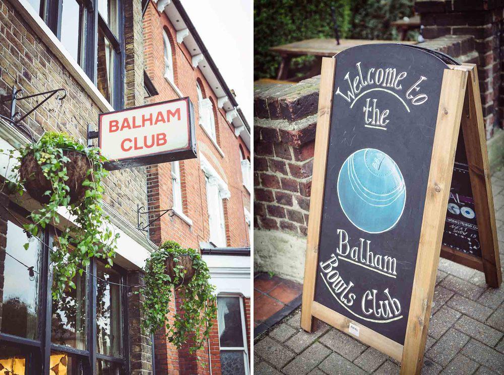 Balham Bowls Club wedding venue