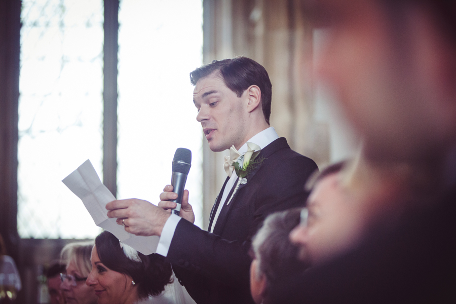Grooms speech at Eltham Palace