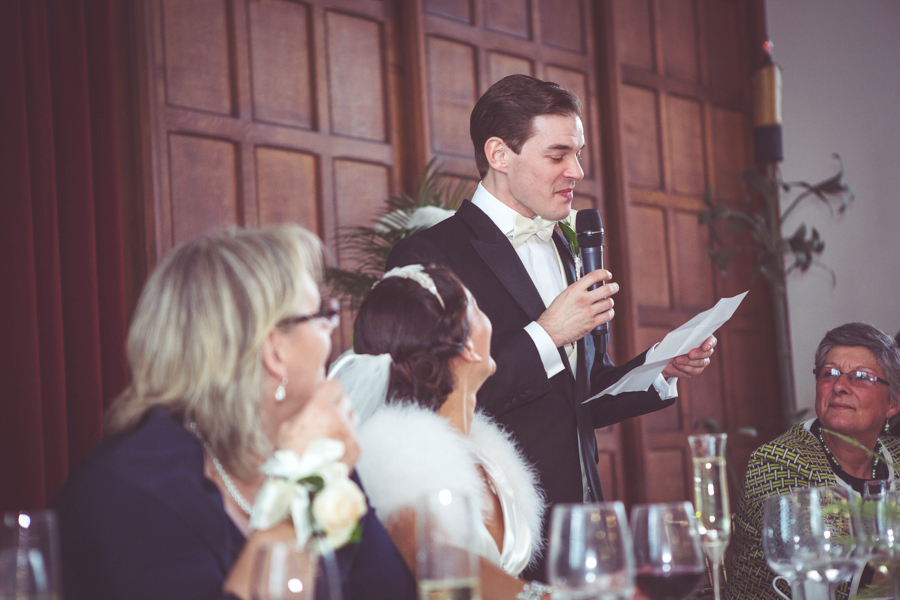 Grooms speech at Eltham Palace photographed by My Beautiful Bride