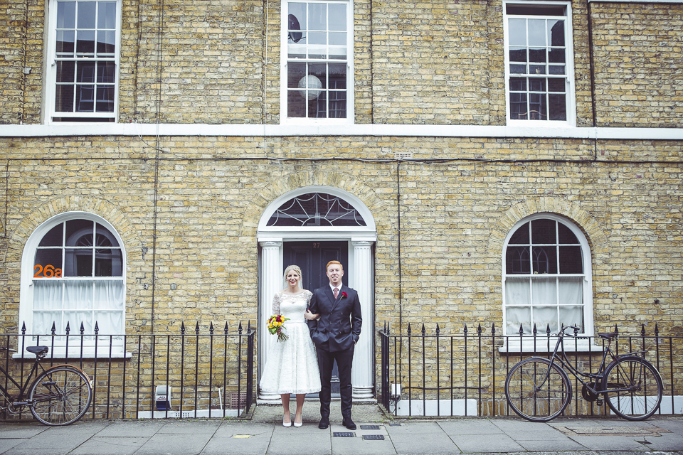 Photos of Bride and Groom in Clerkenwell