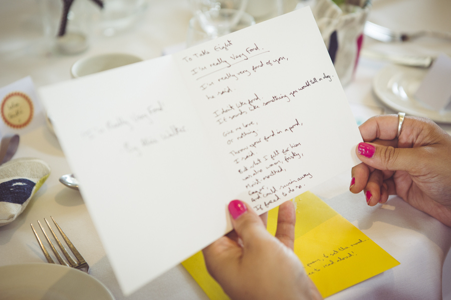 Hand written wedding cards