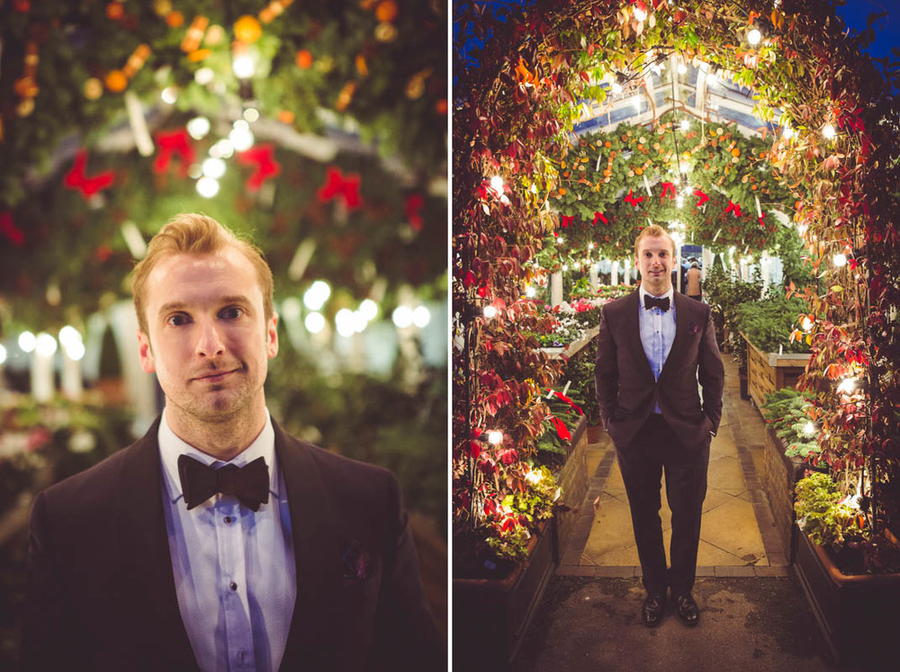 Photographs of the groom