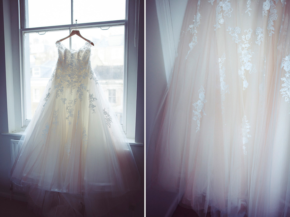 photos of Corinnes wedding dress