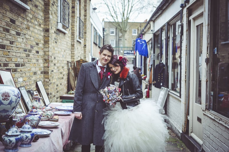 Wedding pictures in Camden Market