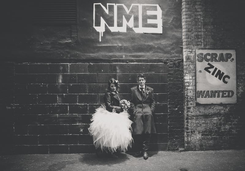 Rock n roll bride and groom