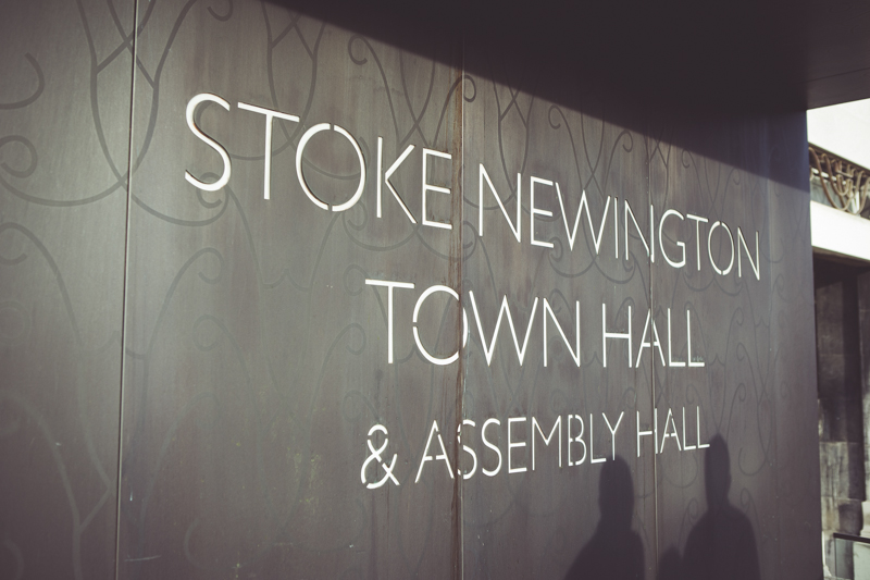 Wedding at Stoke Newington Town hall