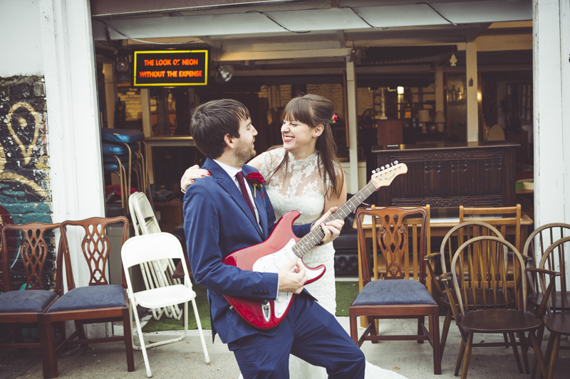 Rock and Roll wedding photos