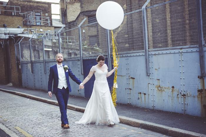 Urban wedding in london