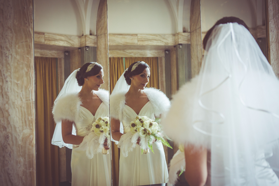 Rebecca and Adam's 1930s Glamour wedding