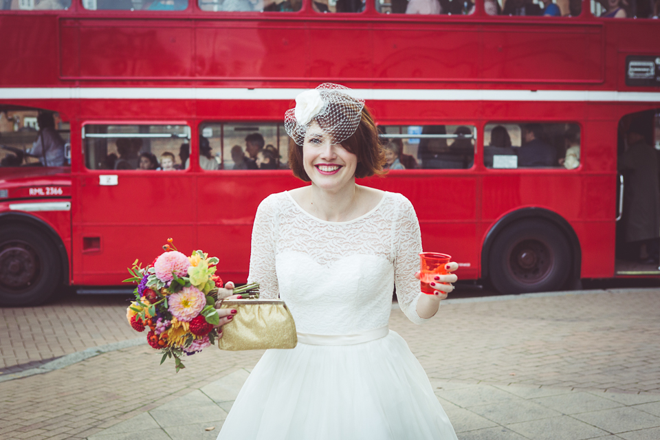 Dani and Marks' Balham Bowls Club wedding