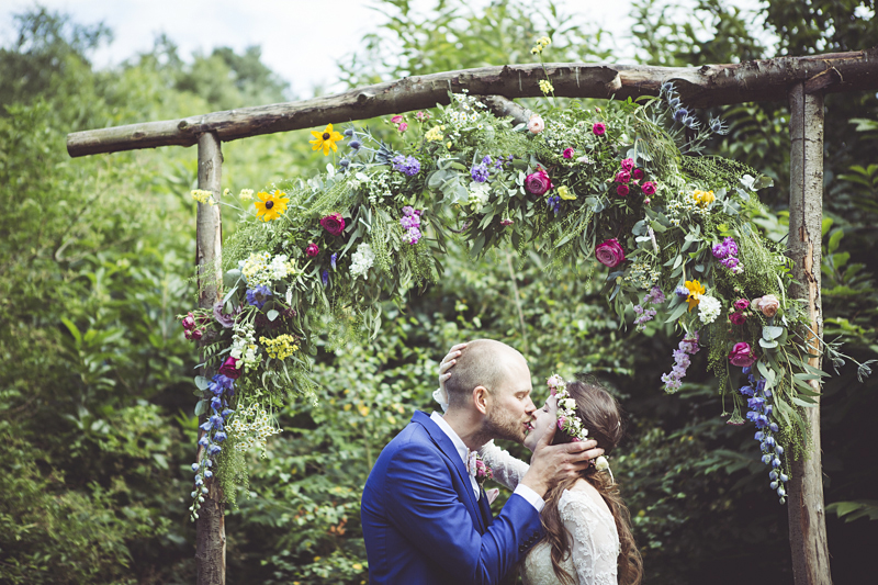 Ellie and Alex's woodland wedding