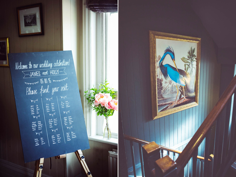 Table plan at the rosendale pub