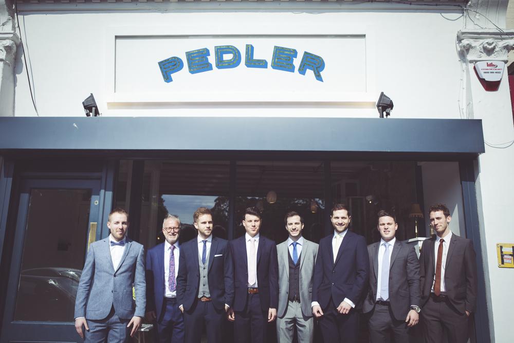 The groomsmen's brunch at The Pedler Peckham Rye