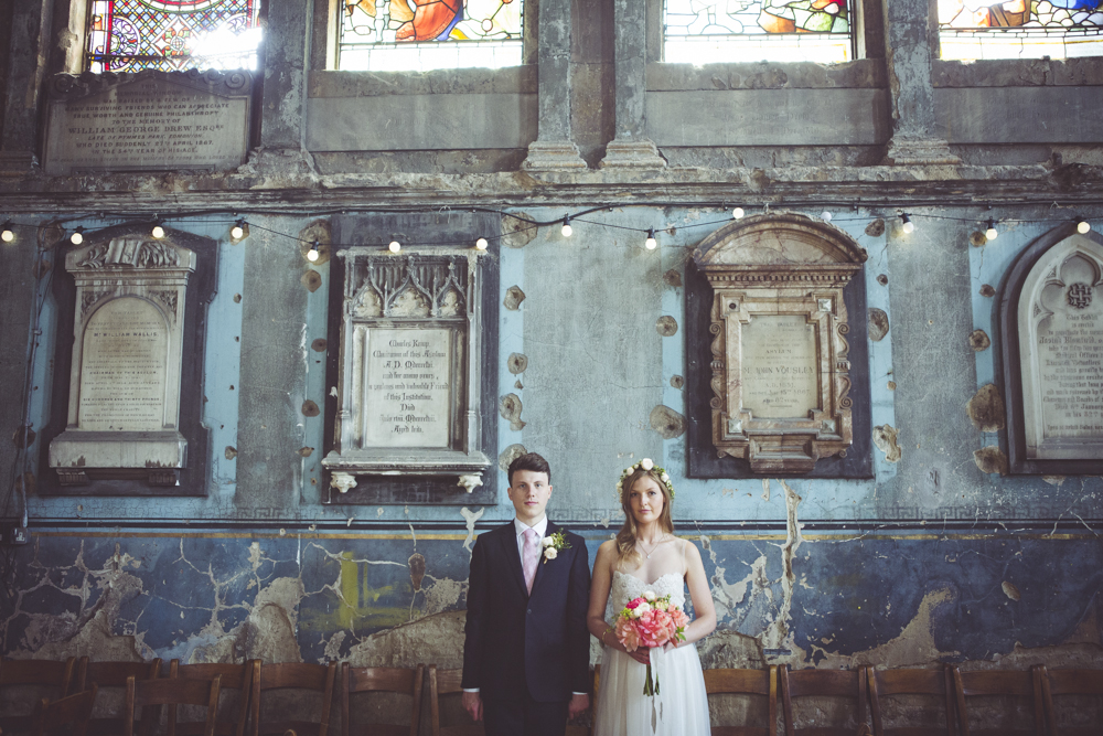 bride and Groom portraits in the Asylum