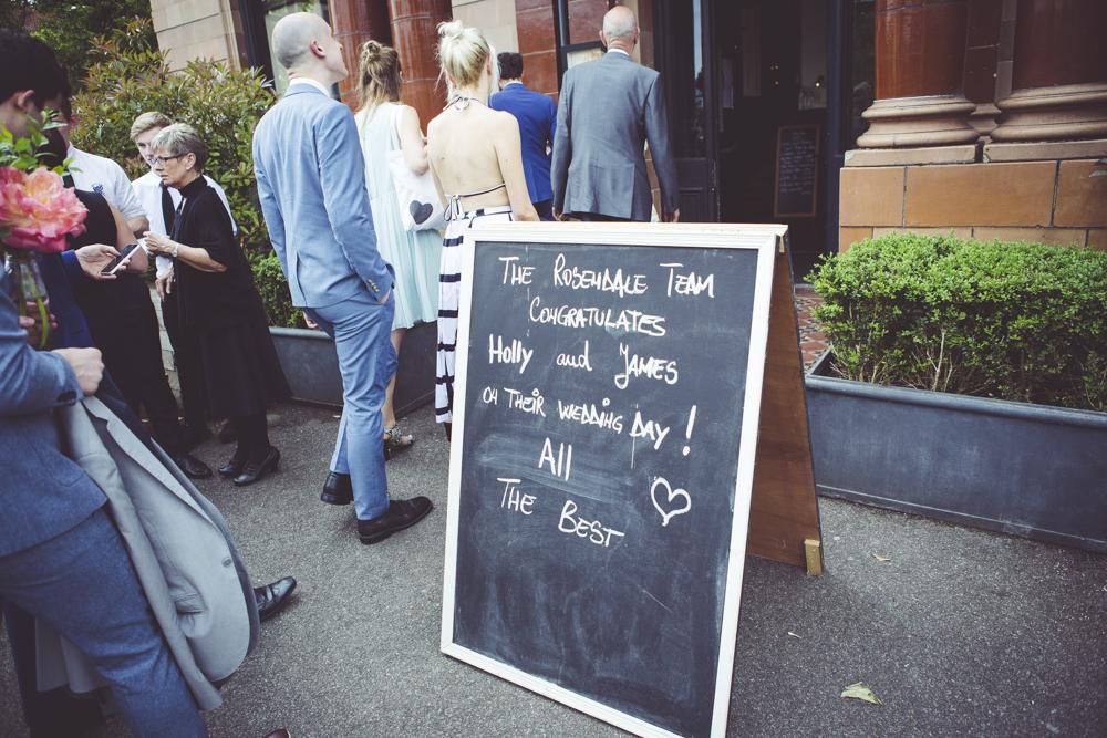 West Dulwich Wedding reception