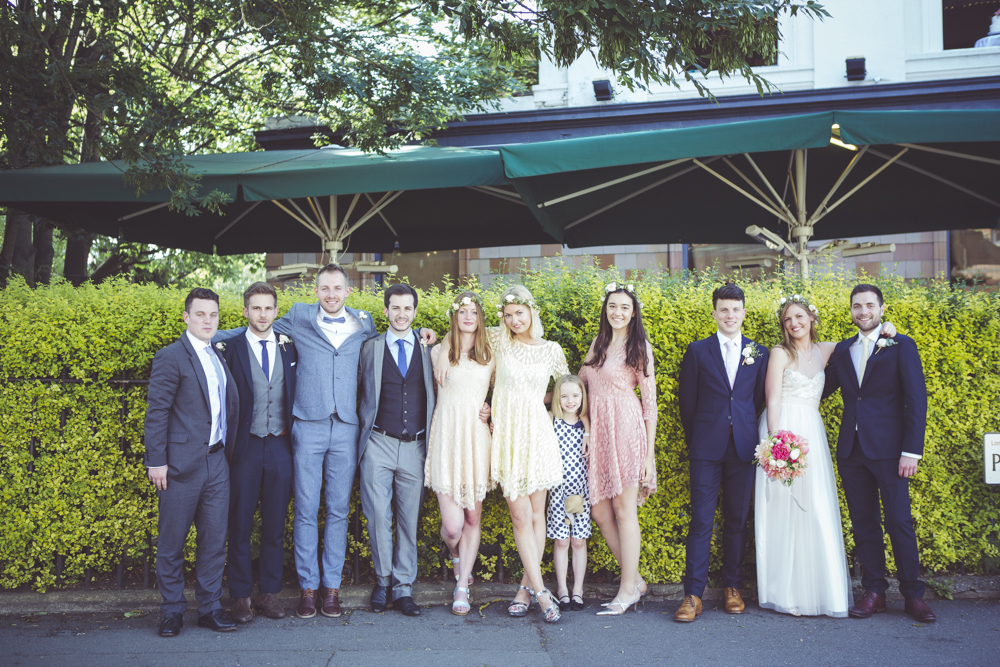 portraits of the wedding party