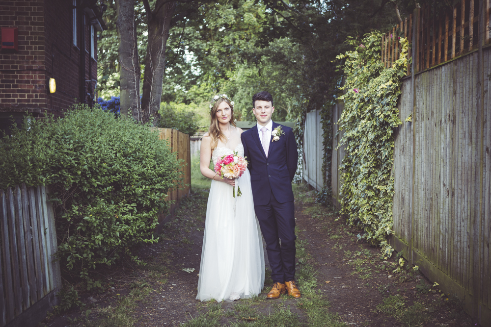 Bride and groom portraits at West Dulwich wedding